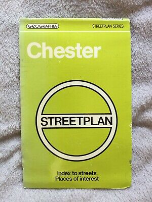 1981 Geographia Chester Street Plan Map