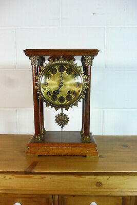 Dutch Table Clock Shelf Mantel Walnut Old Clock Warmink Wuba