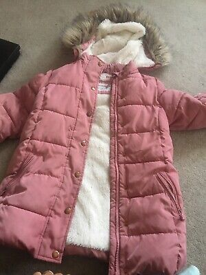 Girls Pink Winter Warm Padded Coat John Lewis Age 7 Good Condition