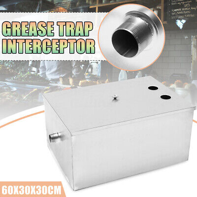 Stainless Steel Grease Trap Interceptor Restaurant Kitchen Wastewater Commercial