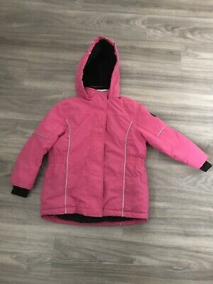 Matalan girls pink fully lined waterproof ,wind proof hooded coat Age 7