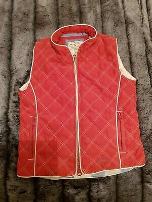 joules red gilet bodywarmer childs girls age 6