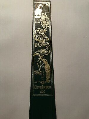 Leather bookmark. Chessington Zoo. Five images.