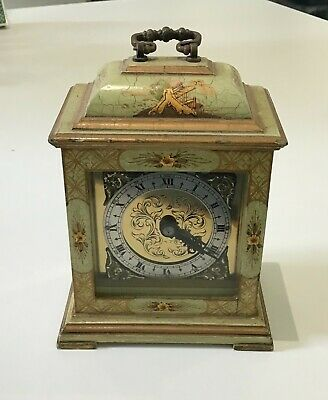 Working Antique Mercer Mantle Clock with Chinoiserie Case:  Movement No 000416