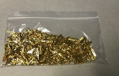 Lot Of 200 New Gold Plated Edac/Elco Crimp Pins