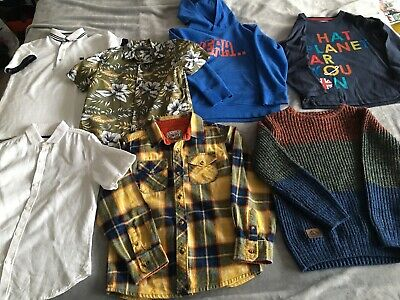 Boys Bundle Including Hoodie, Jumper, Tops And Shorts Age 8-9 Years