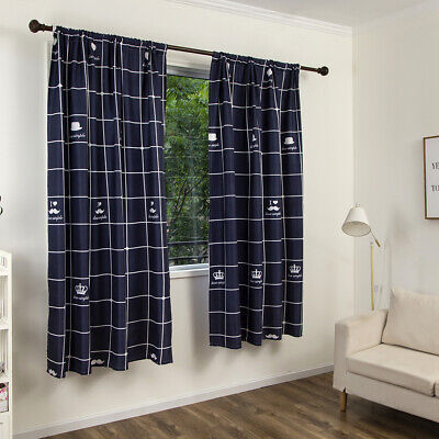 Ready Made Thermal Plaid Blackout Curtains for Window Eyelet Ring Top Home Decor