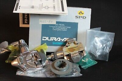 Nos Nib Shimano Dura-Ace Pd-7410 Pedals Spd Vintage Road Bike Clipless Bicycle