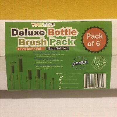 Young Ever Deluxe Bottle Brush Pack Of 6 Sealed