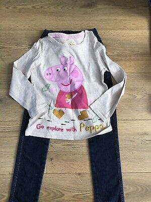 Girls outfit Stunning Marks And Spencer And H/m Jeans & top aged 5-6 years