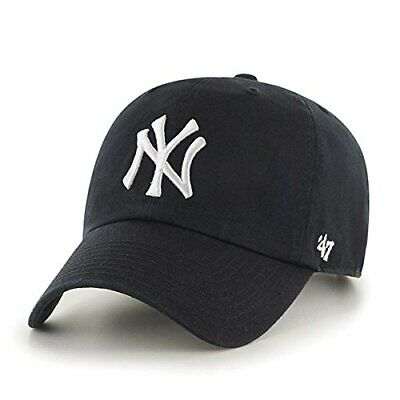 New York Yankees Baseball Cap - New Era 9FORTY Black Hat Adjustable
