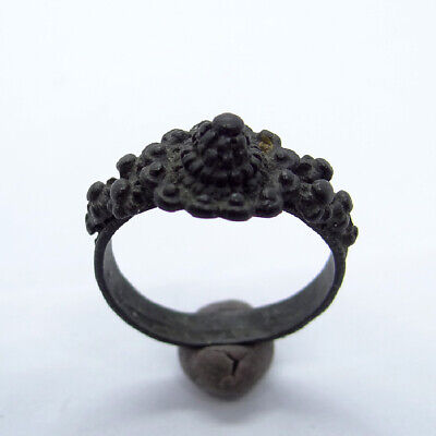 Ancient Artifact Byzantine Bronze Ring