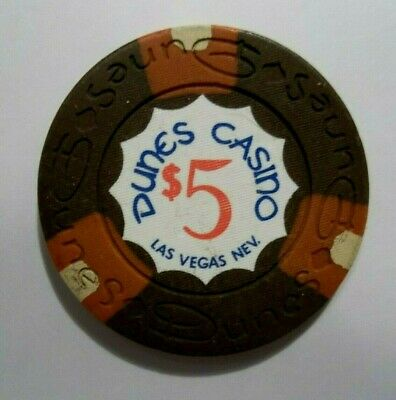 Dunes Hotel $5 Las Vegas Nv Casino Poker Chip RARE The Strip