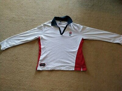 Official England Rugby Union Longsleeve Shirt Mens Large Rfc world cup