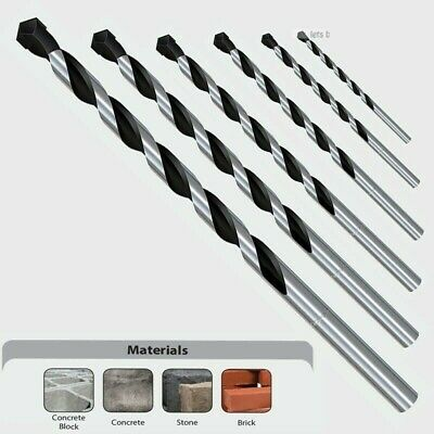 6mm x 100mm PROFESSIONAL MASONRY DRILL BITS TUNGSTEN CARBIDE TIP IMPACT BIT