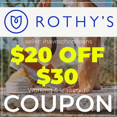 Rothy's $20 off $30 Discount Promo Code (Flats Points Loafers Sneakers) Coupon
