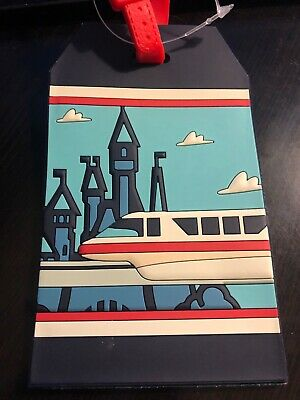 Disney Park Authentic Luggage Tag - WDW Monorail