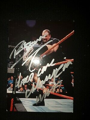 WWF/WWE The Big Bossman Autographed Smackdown 1999 Card Signed Hard Justice