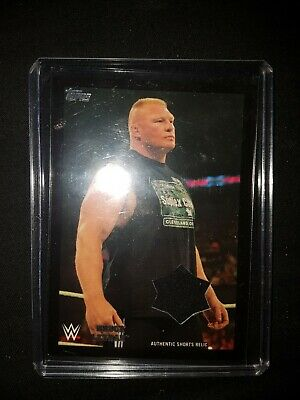 WWE/WWF Superstar Brock Lesnar 2016 Authentic Short Relic Card 39/99 The Beast