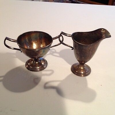 Vintage Rockford Silver Plate Co. Goblet & Pitcher #1506