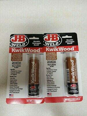 J-B Weld 8257 KwikWood Wood Repair Epoxy Putty Stick 2 sticks