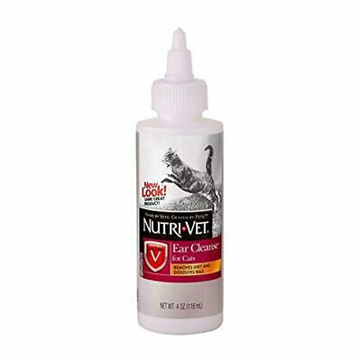Nutri-Vet Ear Cleansing Liquid for cats. 4 Ounce