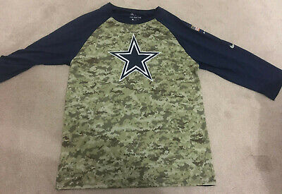 Dallas Cowboys NFL Nike Salute to Service 3/4 Shirt *AS NEW* Men's L