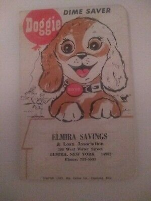 Classic Dime Saver Book. Elmira Savings Bank. Holds $3. Great Gift Or Collectors