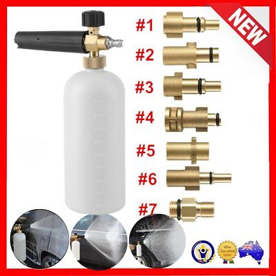 Snow Foam Lance Pressure Washer Soap Bottle Gun For Karcher Bosch Lavor fD