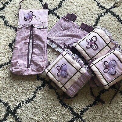 Cocalo Baby Sugarplum Bumpers Valence Diaper Bag