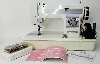 WHITE Deluxe Zig Zag Sewing Machine With Protective Hard Case and Receipt