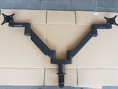 """Dual Arms LCD Desk Computer Monitor Mount for 10""""-27"""" Monitor"""