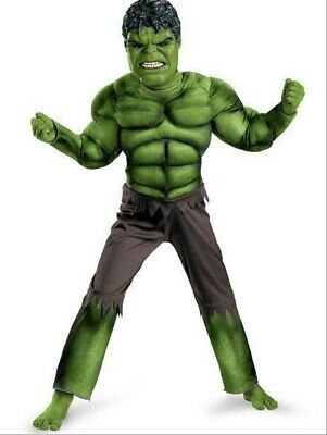 New Deluxe Incredible Hulk Age 3-8 Boys Fancy Dress Kids Marvel Avengers Costume