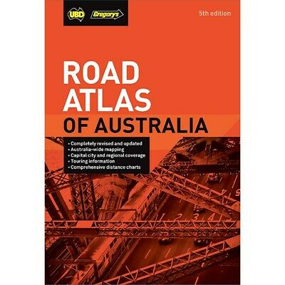 Road Atlas of Australia 5th ed by UBD Gregory's Spiral Book New