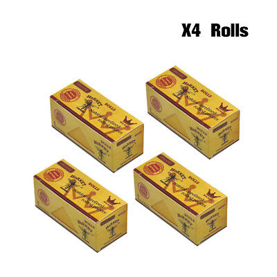 4 Rolls HORNET Natural Unrefined ORGANIC Rolling Papers 5 Meters - Brown