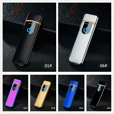 Windproof Electric Cigarette Lighter Touch Sensitive Flameless USB Rechargeable