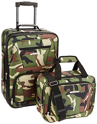 Camouflage Luggage 2 Piece New Printed Luggage Set Medium Travel Gear 2 Wheels