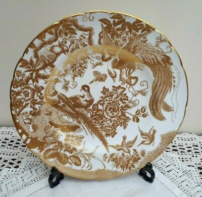 "Royal Crown Derby Gold Aves A1235 10.5"" Dinner Plate 2008"