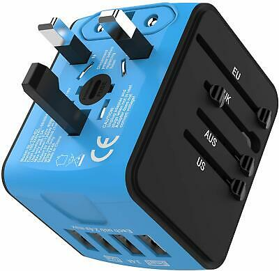 JOLLYFIT International Universal Travel Adapter 4 USB 2.4A Charger New & Sealed