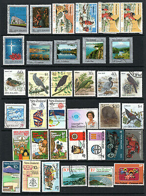 Commonwealth - New Zealand - Selection X 36 Used Stamps Up To $10.