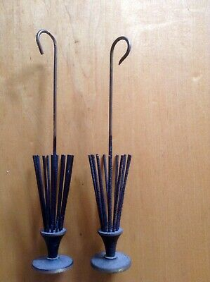 Vintage Paris Apt Metal Umbrella Serviette Holders. Art Deco Mid Century Retro