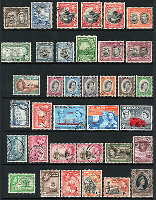 Commonwealth - Selection X 36 Used Stamps.