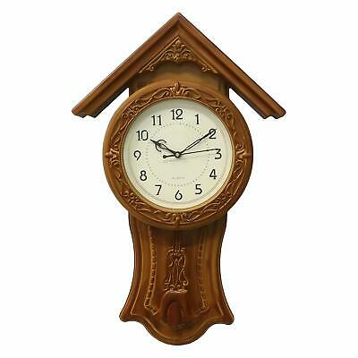 """Vintage Wooden Wall Clock With Pendulum Large Antique Clock Xmas Home Decor 20"""""""