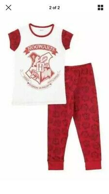 Childrens Harry Potter Hogwats Pyjamas PJs Sleepwear Boys Girls *New* 8-9 Years