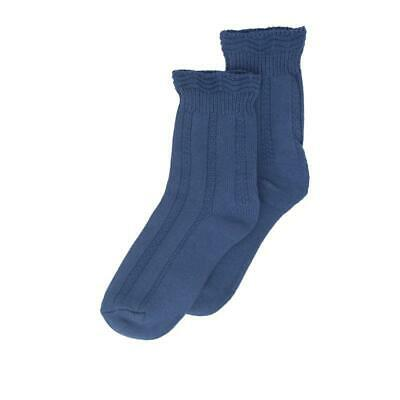 Millie Mae New for AW19 Womens Ruffle Top New Blue Socks