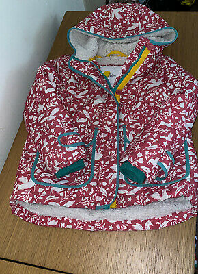 Mini BODEN girls Winter Coat Size 5-6 WaterProof And Sherpa Lined Great Conditio