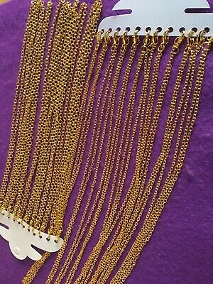 Gold Plated Necklace. 12 Pack And 11 Pack.