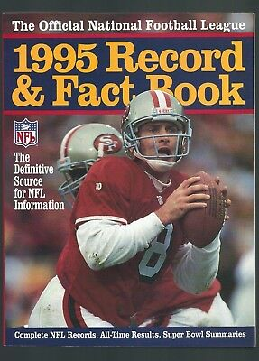 1995 Nfl Record & Fact Book,  As New Condition.