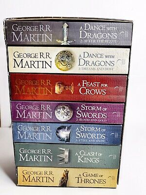 George R.R. Martin: A Game of Thrones Song of Ice and Fire 7 Volume Books As New