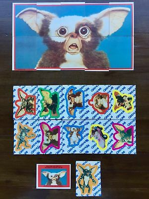 Gremlins - The Movie - Complete 11 Card Sticker Set  - 1984 Topps - NM